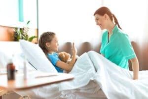 gave til sygeplejerske