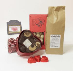 Gavekurv » l%C3%A6kker slik chokolade og kaffe gavekurv