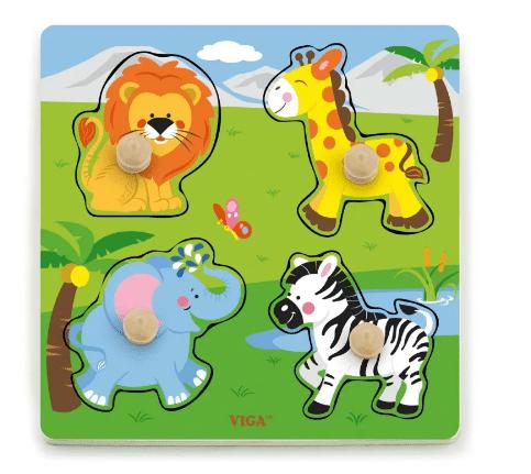Barselsgave » Sødt puslespil med safari dyr