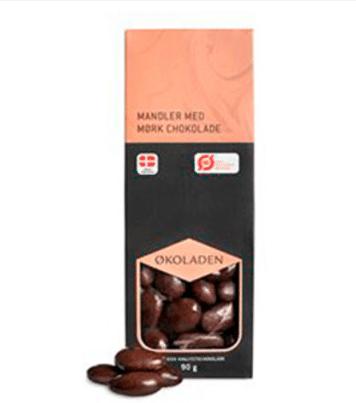 Gaver til 50 kr » mandler med mørk chokolade