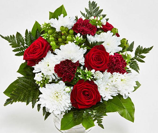 Ønsk tillykke med en flot blomsterbuket