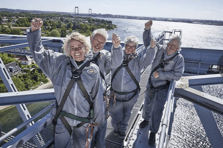 60 års fødselsdag » Oplevelsesgave bridgewalking 60 års gave