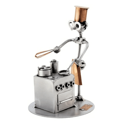 Svendegaver » metalfigur kok svendegave