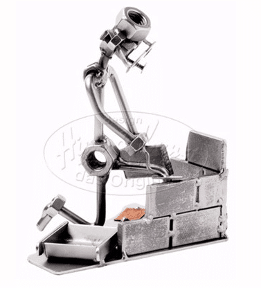 Svendegaver » metalfigur murersvend gave