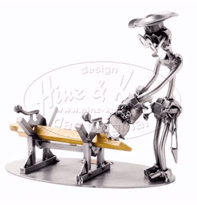 Svendegaver » metalfigur tømrersvend svendegave