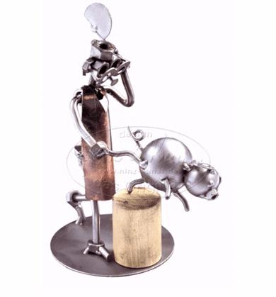Svendegaver » slagtersvend metalfigur gave