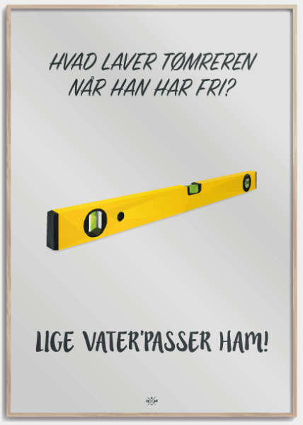 Svendegaver » tømrersvend plakat gave