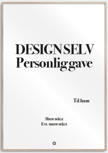 Personlige gaver » Citatplakat personlig gave