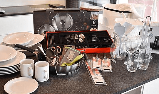 Flytte hjemmefra gaver » Erling Christensen komplet flyt hjemmefra pakke