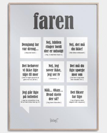 Gave til far » Far plakat med sjove citater gave til far