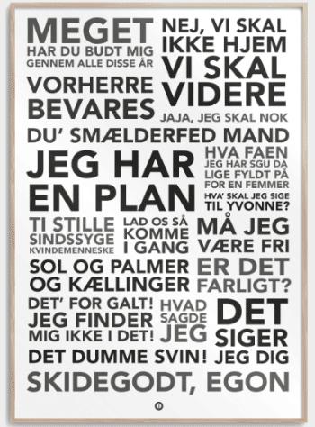 Julegaver » Olsen Banden – Plakat julegave