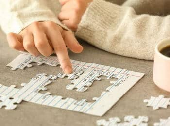 Gave til dement » Brev lavet som puslespil til dement