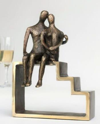 Gave til pensionist » side by side bronzefigur til pensionist