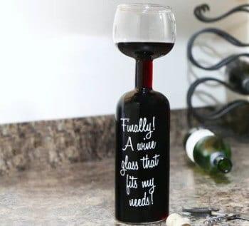 God bedring gave » vinglas flaske