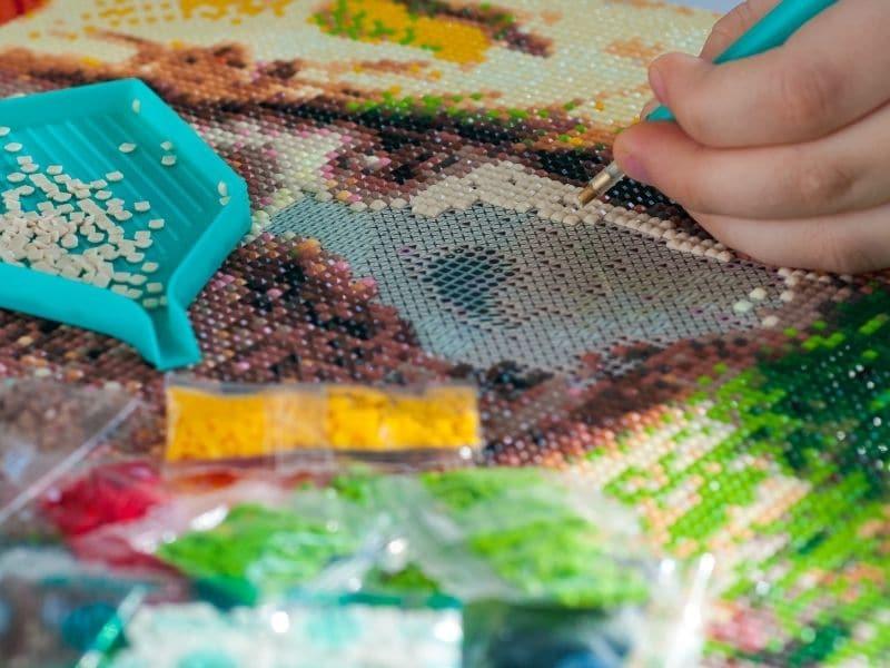 Diamond Paint-billede: En sød og kreativ gaveidé til børn og voksne » Diamond Paint billede En soed og kreativ gaveide til boern og voksne