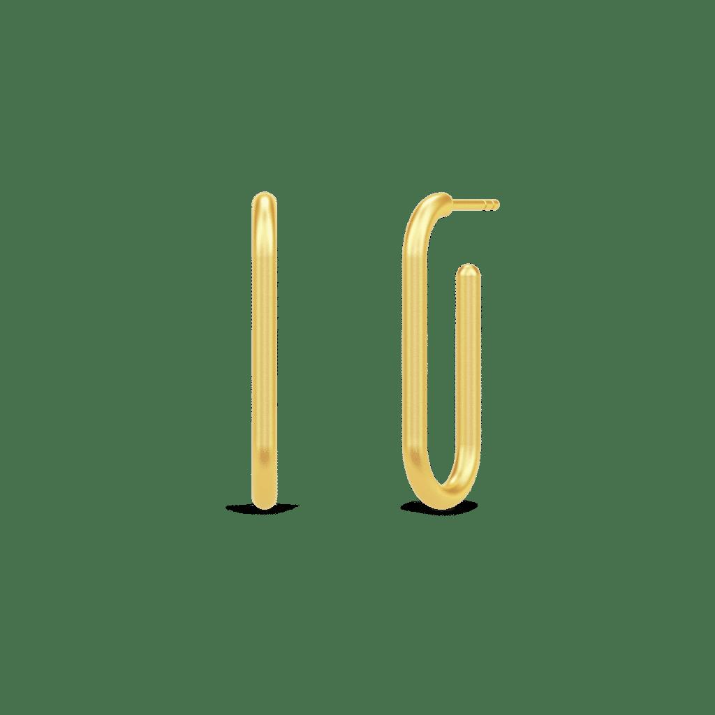 Populære øreringe » Julie Sandlau LINK Hoops forgyldt HPS113GD