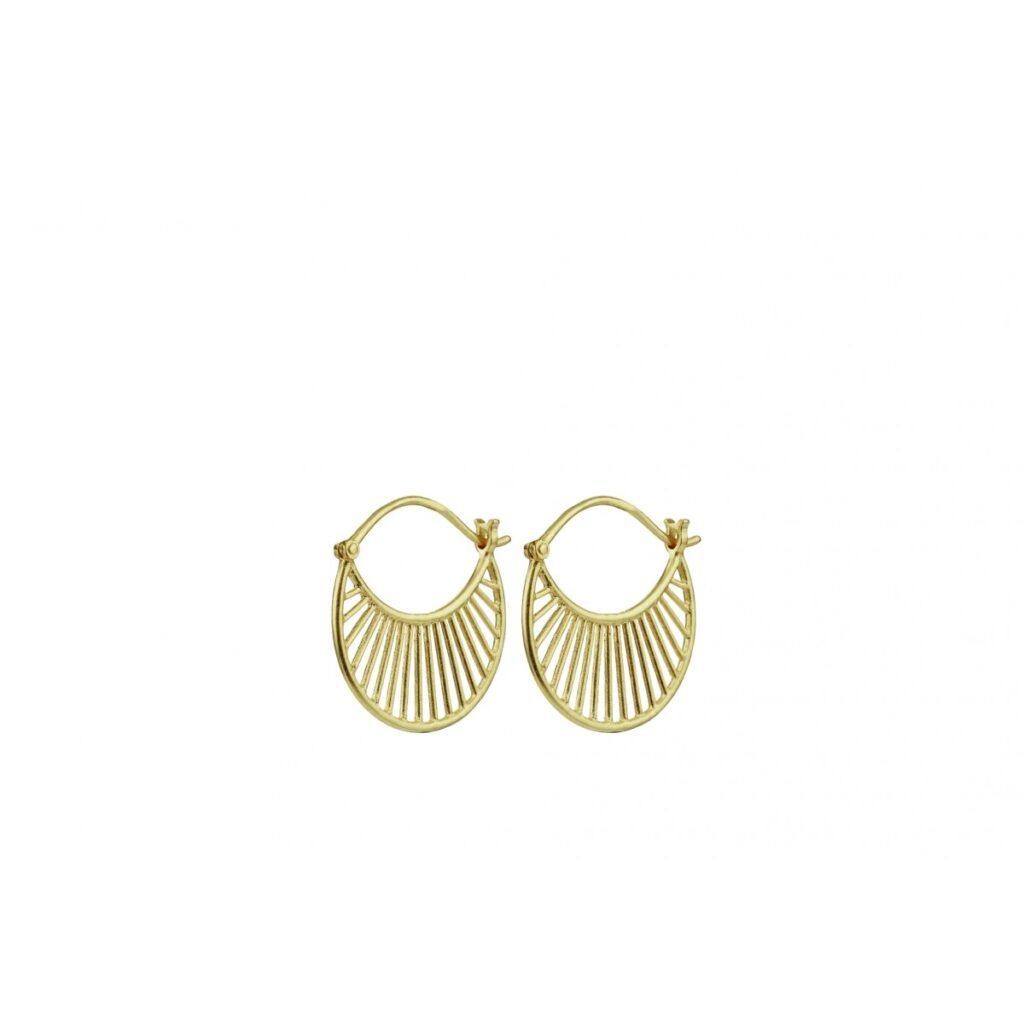 Populære øreringe » Pernille Corydon DAYLIGHT oereringe forgyldt 22 mm