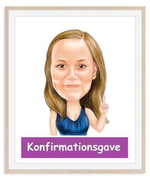 Konfirmationsgave - Karikaturtegning Efter Dine Fotos
