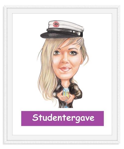 Studentergave - Karikaturtegning Efter Dine Fotos