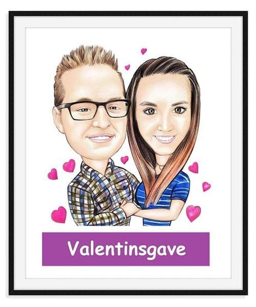 Karikaturtegning – Giv en sjov og anderledes karikaturtegning i gave » Valentinsgave