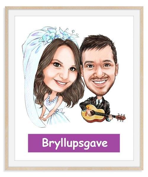 Bryllupsgave - Karikaturtegning Efter Dine Fotos