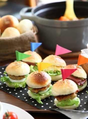mini burger til fødselsdag