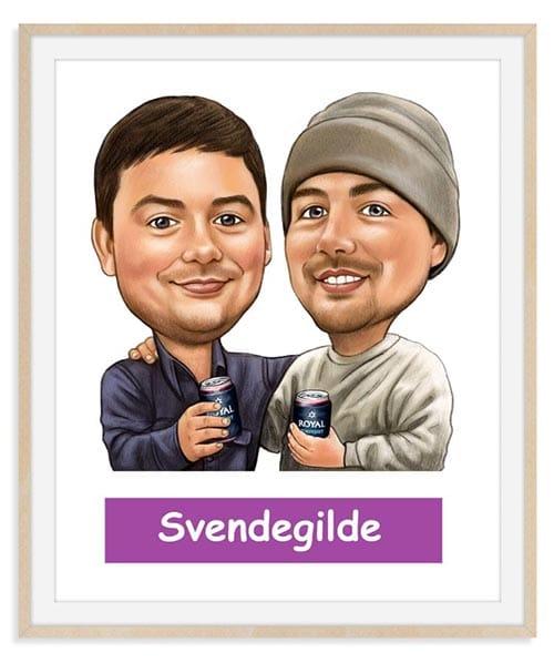 Svendegave - Karikaturtegning Efter Dine Fotos